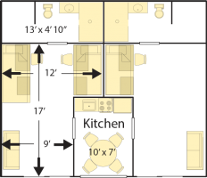 Campus Apartments Floor Plan