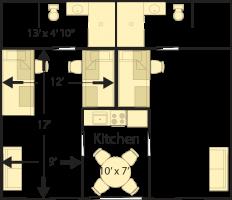 Campus Apartments Floor Plan