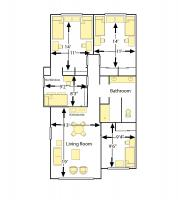 Creekview 6 Person Suite, Double 14' x 11'
