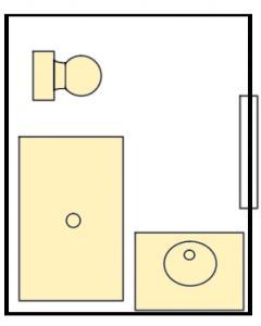 College Creek Private Bathroom - 1 toilet & 1 shower