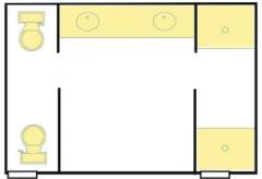 Cypress Original Communal Bathrooms - 3 toilet & shower stalls