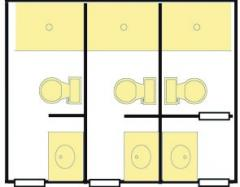 Cypress Remodeled Private Bathroom - 3 toilet & shower stalls