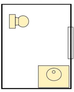 The Hill Gender Neutral Private Bathroom - 1st Floor, 1 toilet & 1 shower